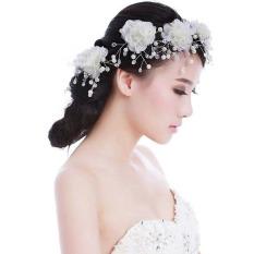Spek Kain Mutiara Kecantikan Rambut Pengantin Gaun Pengantin Accesory Klip 5 Buah Oem