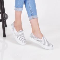 Beli Barang Bebbishoes Strips Slip On White Online