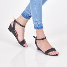 Jual Bebbishoes Tessa Wedges Heels Black Grosir