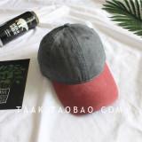 Toko Jual Beberapa Korea Fashion Style Denim Musim Panas Dicuci Topi Baseball Cap Hong Topi Penuh Abu Abu