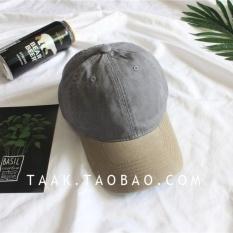 Jual Beberapa Korea Fashion Style Denim Musim Panas Dicuci Topi Baseball Cap Khaki Topi Penuh Abu Abu Grosir