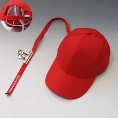Promo Korea Fashion Style Perempuan Pelindung Sinar Matahari Pita Senam Topi Baseball Topi Besi Klip Panjang Pita Merah Akhir Tahun
