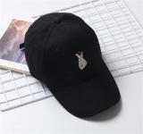 Jual Beberapa Topi Model Biasa Bordir Liar Topi Melengkung Pelindung Sinar Matahari Tangan Daripada Cinta Hitam Oem