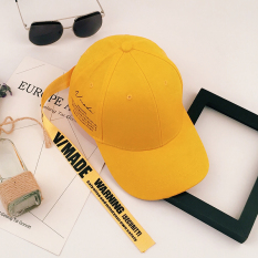 Topi Couple Fashion (Versi Upgrade Dengan Panjang (Kuning-Band Kuning)) (Versi Upgrade Dengan Panjang (Kuning-Band Kuning))