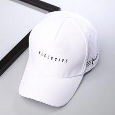 Toko Beberapa Topi Model Biasa Korea Fashion Style Pria Dan Wanita Topi Modis Melengkung Putih Yang Bisa Kredit