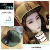 Diskon Beberapa Korea Fashion Style Untuk Pria Dan Wanita Musim Panas Topi Baseball Topi Topi Bagian Berlian Tentara Hijau