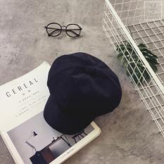 Toko Beberapa Korea Fashion Style Warna Solid Untuk Pria Dan Wanita Topi Topi Segi Delapan Hitam Murah Di Tiongkok