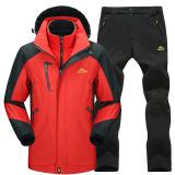 Harga Termurah 2 Pcs Baju Hiking Couple 3 In 1 Liner Bisa Dilepas Laki Laki Merah Hitam Laki Laki Merah Hitam