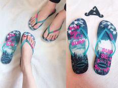 2018 brasil Produk Asli Havaianas Havainas Pria dan wanita sandal pantai Sandal Jepit pasangan sol datar sandal