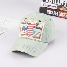 Beberapa Retro Surat Bendera Dicuci Denim Topi Topi Model Bendera Diskon Akhir Tahun