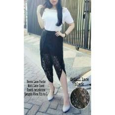 Becca Lace Pants Bahan Lace Combi Twiscone Fit L 1Y