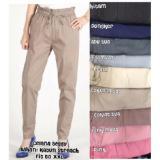 Kualitas Beggy Pants Cotton Strech Abu Muda Oem
