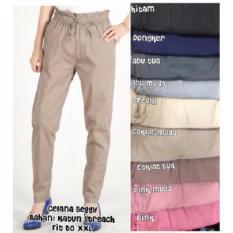 Diskon Beggy Pants Cotton Strech Abu Muda Oem