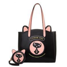 Beibaobao - Women's Shoulder Bag TSX528 Black Pink - Tas Wanita