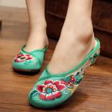 Promo Beijing Oldish Baru Sepatu Kain Tarik Perempuan Kembang Sepatu Hijau Sepatu Wanita Sandal Wanita Other