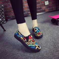 Beli Beijing Oldish Dasar Hitam Bernapas Sepatu Wedges Sepatu Sekolah Biru Sepatu Wanita Sepatu Sport Sepatu Sneakers Wanita Other Murah
