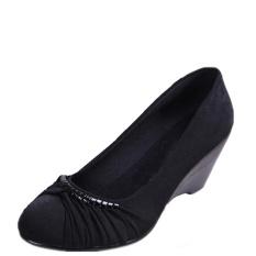 Harga Beijing Oldish Ukuran Ekstra Besar Sepatu Hak Perempuan Sepatu Kain Model Wanita Hitam Sepatu Wanita Flat Shoes Terbaik