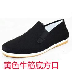 Spek Beijing Tua Karet Bawah Di Musim Semi Dan Musim Gugur Sepatu Mengemudi Sepatu Kuning Tendon Pada Akhir Pelabuhan Sisi Oem