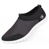 Situs Review Beijing Tua Model Laki Laki Musim Semi Dan Musim Gugur Bernapas Sepatu Sepatu Kain Hitam
