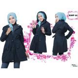 Harga Believe Bjmp 08 Jaket Muslim Wanita Jaket Parka Ziper Hoodie Casual Kaos Old Blue Believe Terbaik