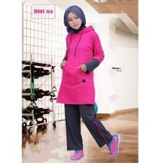 Beli Believe Setelan Bms 04 Baju Olahraga Muslim Kaos Wanita Baju Muslim Kaos Pink Yang Bagus