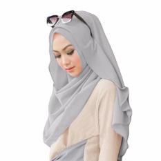 Belle Hijab Kerudung Instan - [Warna Abu Muda]
