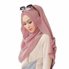 Belle Hijab Kerudung Instan - [Warna Dusty Pink]