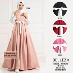 PROMO Belleza Dress MAROON / BAJU DRESS/MAXI DRESS/GAMIS MUSLIM/BAJU WANITA