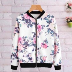 BelovedFashion - Jaket Flower Charlotte - WHITE