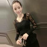 Perbandingan Harga Benang Jaring Perempuan Baru Atasan Baju Dalaman 809 Hitam Baju Wanita Baju Atasan Kemeja Wanita Oem Di Tiongkok