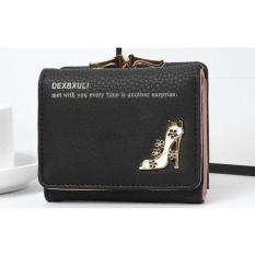 Beli Bencool Baru Lady Pendek Dompet Multi Card Bit Tiga Lipat Eyeshadow Bedak Kartu Pocket Coin Pocket Black Online Tiongkok