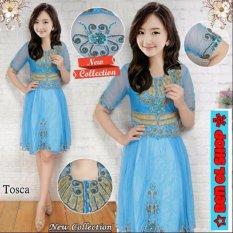 BenOlshop Kebaya Midi Dress Barbie-Blue