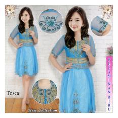 BenOlshop Kebaya Midi Dress Barbie - Blue ( Free Inner)