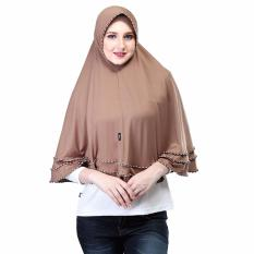 Bergo Jilbab Hijab Instan Wanita Inficlo SMR 720 Coklat Spandek