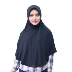 Bergo M Hijab Jilbab Instan Instant - [Warna hitam]