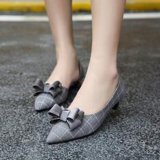 Berlubang Dengan Manis Sepatu Wanita Sepatu Hak Perempuan Abu Abu Other Diskon 30