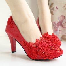 15 Model Buatan Tangan Sepatu Pernikahan RESTONIC Batu Kristal Air Sepatu  Mempelai Wanita Tumit Tinggi Menikah 5dadfa5abf
