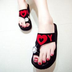 Beli Bertumit Tinggi Sepatu Sol Tebal Sol Tebal Sendal Sepatu Wanita A29 Hitam Other Murah