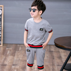 Besar Korea Fashion Style anak laki-laki baru musim panas pakaian anak-anak (