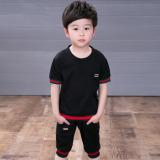 Besar Korea Fashion Style Anak Laki Laki Baru Musim Panas Pakaian Anak Anak Musim Panas Ayat Oucci Hitam Di Tiongkok