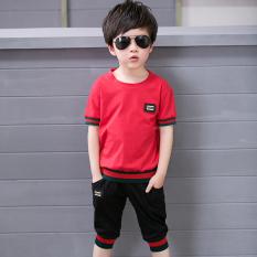 Harga Besar Korea Fashion Style Anak Laki Laki Baru Musim Panas Pakaian Anak Anak Musim Panas Ayat Oucci Merah