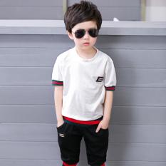 Besar Korea Fashion Style Anak Laki Laki Baru Musim Panas Pakaian Anak Anak Musim Panas Ayat Oucci Putih Promo Beli 1 Gratis 1