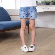 Beli Besar Korea Fashion Style Stretch Denim Baru Pakaian Luar Celana Pendek Anak Perempuan Celana Pendek Denim Biru Biru Online Murah