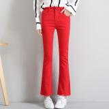 Harga Celana Potongan Boot Merah Tua Pinggang Tinggi Kasual Celana Musim Semi Dan Musim Panas Bagian Tipis Merah Oem Ori