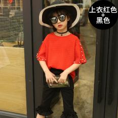 Spesifikasi Besar Modis Gadis Baru Gadis Musim Panas Kemeja Merah Hitam Murah