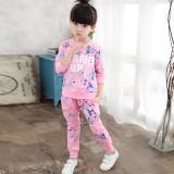Daftar Harga Besar Korea Fashion Style Katun Model Musim Semi Dan Musim Gugur Anak Anak Gadis Set Merah Muda Oem