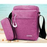 Harga Best 2In1 Tas Selempang Waterproof 989 Kanvas Men Sling Back Cowo Cewe Messanger Shoulder Bag Fuschia Dan Spesifikasinya