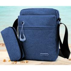 Beli Best 2In1 Tas Selempang Waterproof 989 Kanvas Men Sling Back Cowo Cewe Messanger Shoulder Bag Navy Di Indonesia