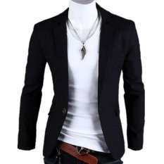 Best Blazer Korean Style Slim Fit Black Di Yogyakarta