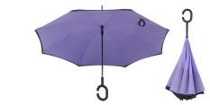 Spesifikasi Best Ct Unique Inside Out Umbrella With C Hook Handle Purple Yang Bagus